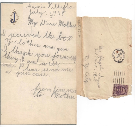 James Ingram letter 1938
