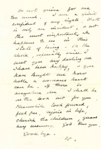 churchill letter to clementine