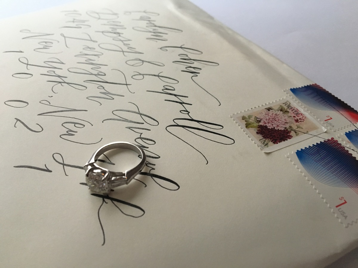 calligraphed-envelope